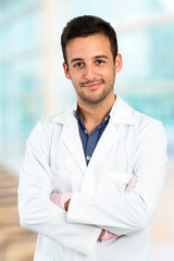 Young male dentist.