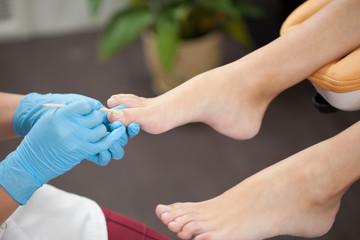 woman foot in pedicure