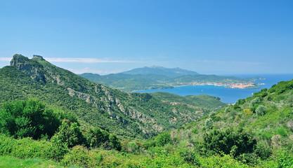 Blick in die Bucht von Portoferraio auf der Insel Elba
