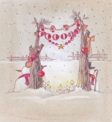old stile background for christmas