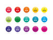 Set of colorful rainbow spectrum new badges sign vector
