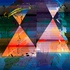 abstract artwork, triangular forms, vector