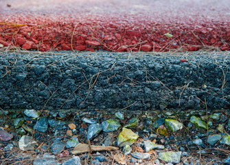 Layer of asphalt road