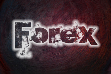 Forex text on Background
