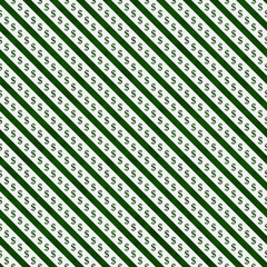 Green and White Dollar Signs and Stripes Pattern Repeat Backgrou