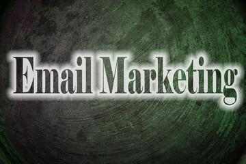 Email Marketing Text on Background