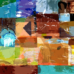 abstract background composition, with paint strokes, splashes an