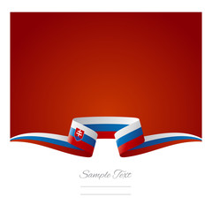 Abstract background Slovak flag ribbon