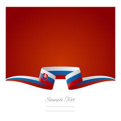 Abstract background Slovak flag ribbon