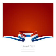 Abstract background Croatian flag ribbon
