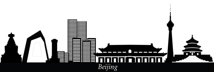 beijing china city skyline