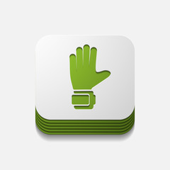 square button: gloves