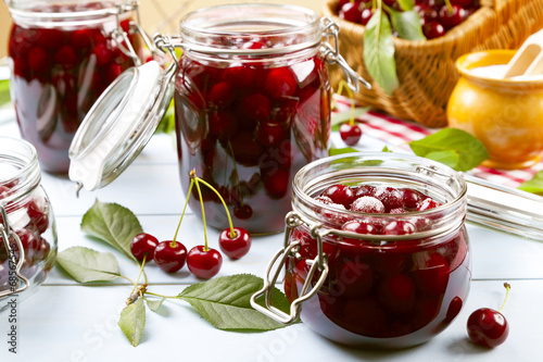 Homemade cherry compote © gkrphoto