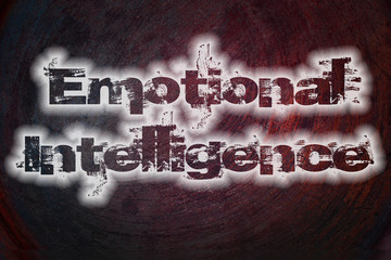 Emotional Intelligence Text on Background