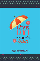 Vector illustration with text umbrella and