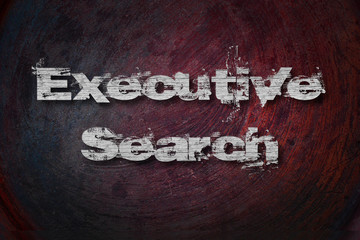 Executive Search Text on Background
