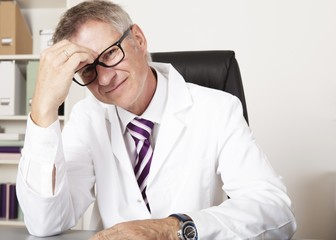 Physician Having Headache