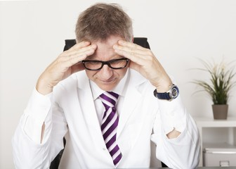 Medical Doctor Suffering Serious Headache