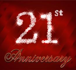 21 year happy birthday card, 21st anniversary sparkles