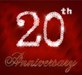20 year happy birthday card, 20th anniversary sparkles
