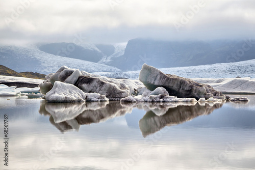 In de dag Gletsjers Fjallsarlon Glacier Lagoon, Iceland