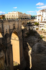Bruecke in Ronda Andalusia Spanien