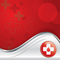 Vector illustration of abstract medical background .