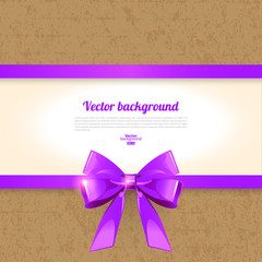 Elegant background with bow