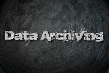 Data Archiving,  concept sign