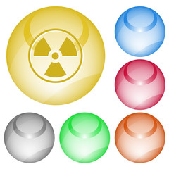 Radiation symbol. Vector interface element.