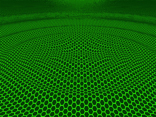 green hexagon abstract background