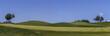 Leinwanddruck Bild - Landscape view of a golf course in the Algarve.