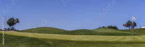 Leinwanddruck Bild Landscape view of a golf course in the Algarve.