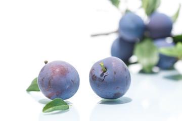 ripe juicy plums