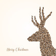 Merry Christmas abstract reindeer