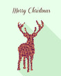 Merry Christmas geometric abstract reindeer