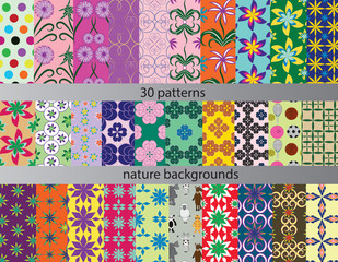 thirty patterns seamless backgrounds nature