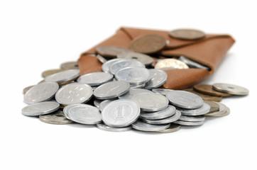 小銭入れと硬貨
