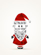 Geometric contemporary Santa Claus