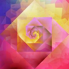 Vibrant vintage optic art geometric pattern