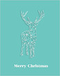 Merry Christmas geometric abstract reindeer