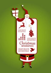 Christmas and Santa Infographic illustration