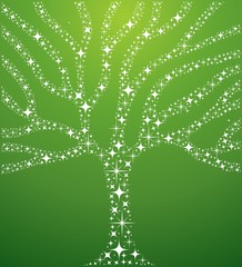 Abstract stars tree illustration