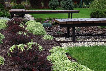 Beautiful modern decorative garden design.
