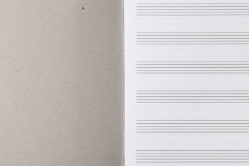 Musical Notebook with Staves