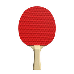 3d illustration of a ping pong paddle