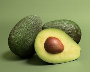 3d illustration of avocados