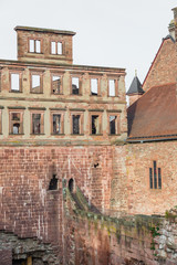 The ruin tower of Heidelberg castle in Heidelberg
