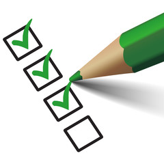 Vector Check Mark Symbol On Checklist