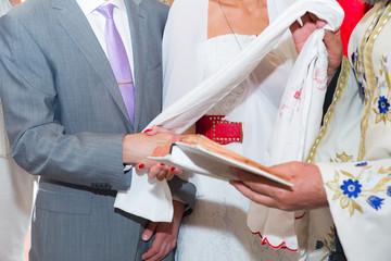 Wedding ceremony. Orthodox wedding